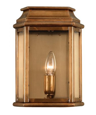 Elstead St Martins Replica Period Outdoor Wall Lantern Solid Aged Brass
