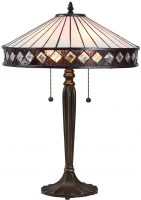 Fargo Art Deco Style 2 Light Tiffany Table Lamp