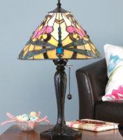 Ashton Medium Tiffany Table Lamp Art Nouveau Dragonfly