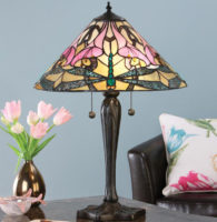 Ashton Large Tiffany Table Lamp Art Nouveau Dragonfly