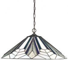 Astoria Large Tiffany 1 Lamp Art Deco Pendant Light
