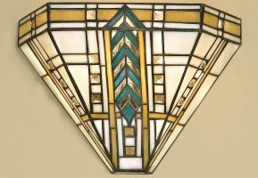 Lloyd 1 Light Tiffany Wall Lamp Art Deco Design