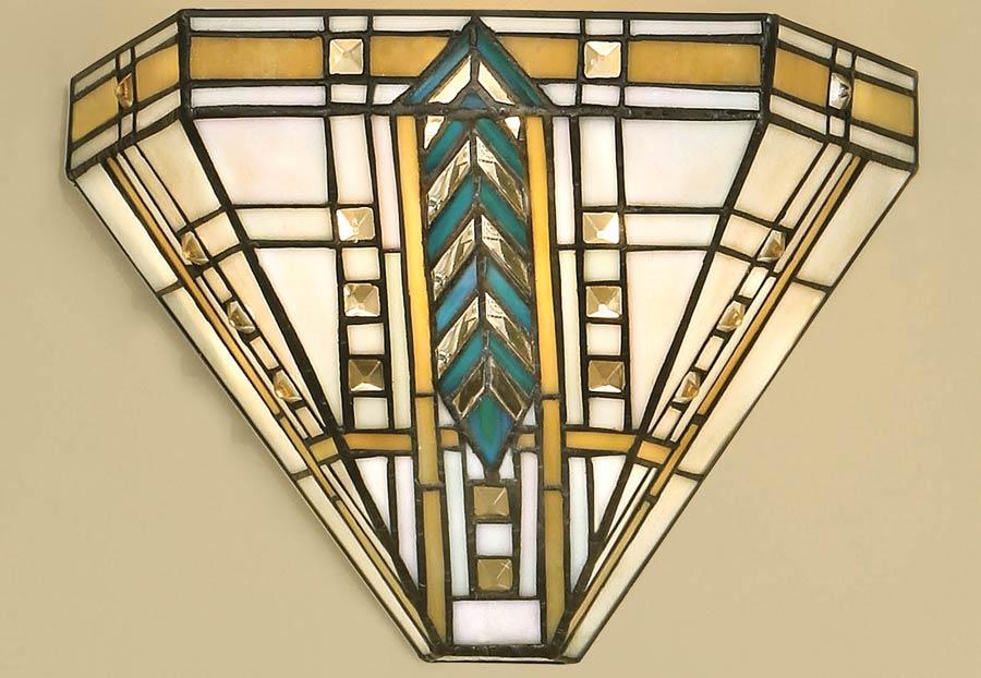 Wall Lamp Art Deco : Lloyd 1 Light Tiffany Wall Lamp Art Deco Design 64243