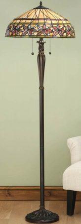 Ashtead Art Nouveau Design Floral Tiffany Floor Lamp