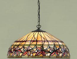 Ashtead Art Nouveau Large Floral Tiffany 3 Light Pendant