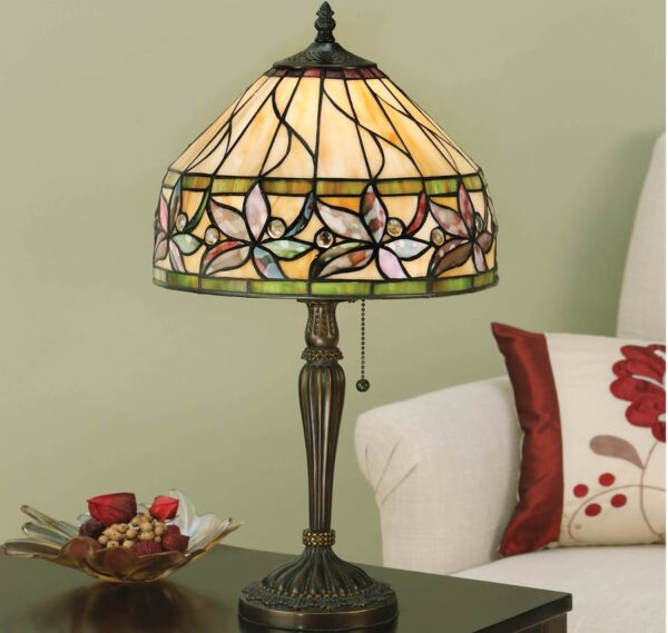 Ashtead Art Nouveau Small Floral Tiffany Table Lamp