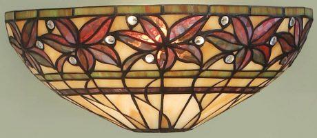 Ashtead Art Nouveau Style Floral Tiffany Wall Light