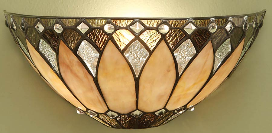 Art deco wall lights and wall light sconces brooklyn flush 1 light tiffany wall lamp art deco style aloadofball Choice Image