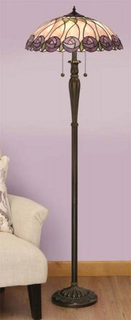 Hutchinson Mackintosh Rose 2 Light Tiffany Floor Lamp