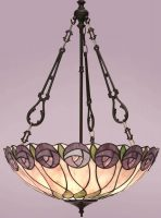 Hutchinson Mackintosh Rose Large 3 Light Tiffany Pendant Uplighter