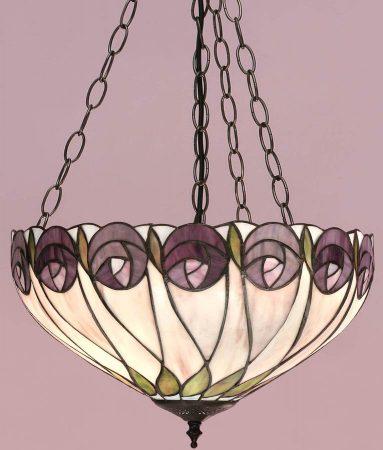 Hutchinson Mackintosh Rose 3 Chain Tiffany Pendant Uplighter