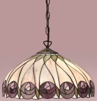Hutchinson Mackintosh Rose 1 Light Tiffany Pendant