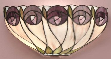 Hutchinson Mackintosh Rose Tiffany Wall Light