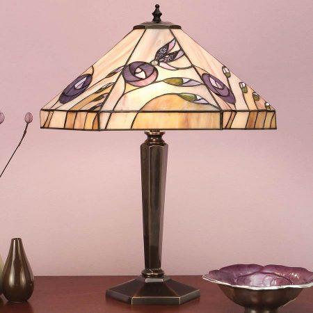 Damselfly Tiffany Table Lamp Mackintosh Rose Inspired