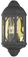 Tenby Traditional Flush Outdoor Wall Lantern Black IP43