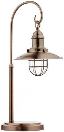 Dar Terrace Caged Lantern Table Lamp Copper Finish