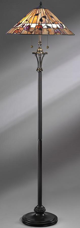 Bernwood Tiffany Art Glass Floor Standard Lamp