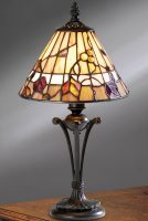 Bernwood Small 1 Light Art Glass Tiffany Table Lamp