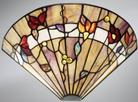 Bernwood Floral Art Glass Tiffany Wall Light