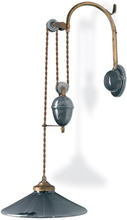 Large Ceramic Rise And Fall Pulley Wall Light Special Offer