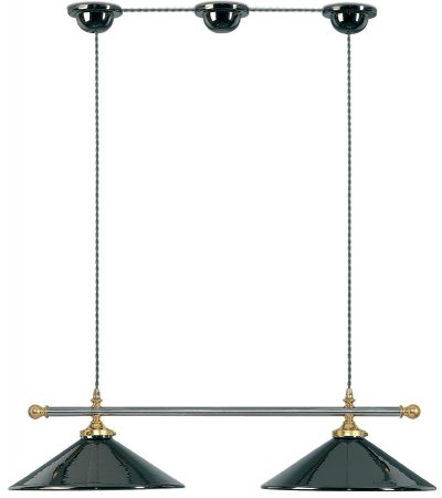 Chrome Country Kitchen Large Shades Trapeze Pendant