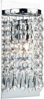 Dar Tiara Switched 1 Lamp Crystal Wall Light Chrome