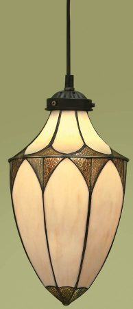 Brooklyn Art Deco Style Small Tiffany Hanging Lantern
