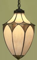 Brooklyn Art Deco Style Large Tiffany Hanging Lantern