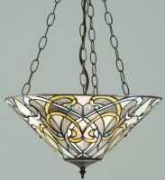 Dauphine Art Nouveau Design 3 Light Tiffany Pendant