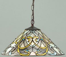 Dauphine Art Nouveau Design 1 Light Tiffany Pendant