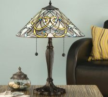Dauphine Art Nouveau Design 2 Light Tiffany Table Lamp