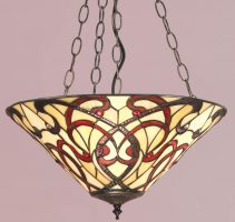 Ruban Art Nouveau Design 3 Light Tiffany Pendant