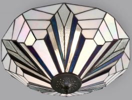 Astoria Tiffany 2 Lamp Flush Ceiling Light Art Deco Design