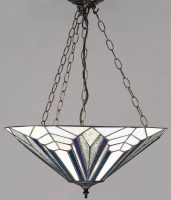 Astoria Tiffany 3 Light Art Deco Style Pendant Uplighter