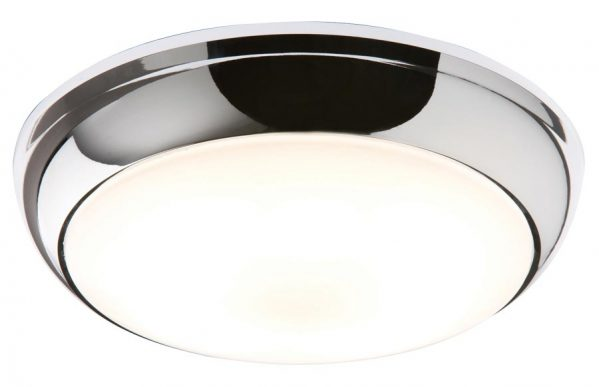Polished Chrome Very Bright 28w Flush Bathroom Ceiling Light IP44