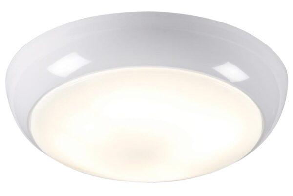Gloss white trim very bright 28w flush mount bathroom ceiling light IP44