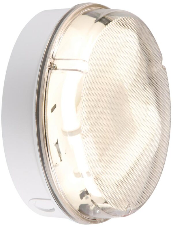 Small white IP65 rust proof 16w prismatic bulkhead wall mounted