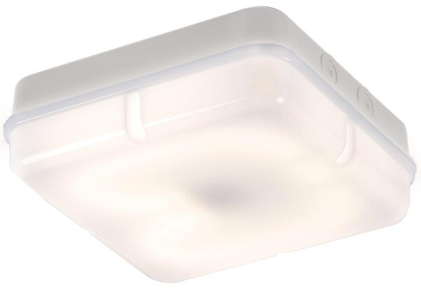 Square IP65 rust proof 28w opal bulkhead white ceiling mounted