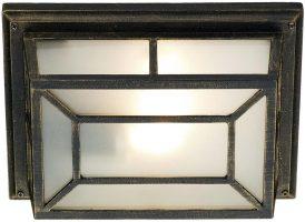 Dar Trent Traditional Rectangular Outdoor Porch Lantern Black