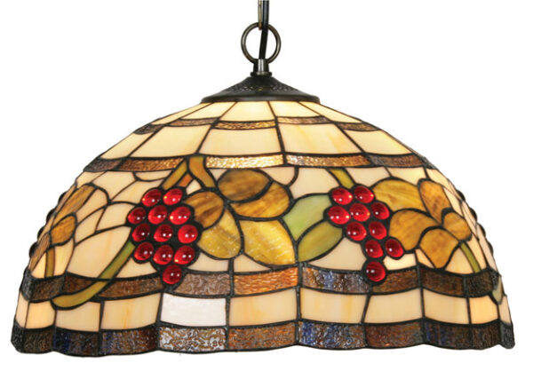 Rustic Grape Vine 410mm Tiffany Pendant Light