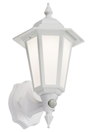 Traditional LED Outdoor PIR Wall Lantern Manual Override White IP54
