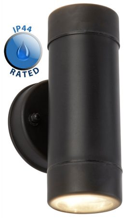 Trenley Rust Proof Outdoor Wall Up And Down Spot Light Black IP44