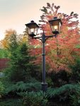 Norlys Turin Grande 2 Lantern Outdoor Lamp Post Black