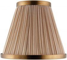 Suffolk Beige 6 Inch Lamp Shade With Antique Brass Frame