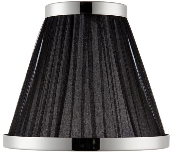 Suffolk Black 6 Inch Lamp Shade With Polished Nickel Frame