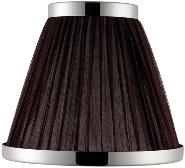 Suffolk Chocolate 6 Inch Lamp Shade With Polished Nickel Frame