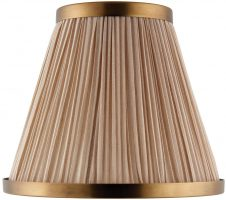 Suffolk Beige 8 Inch Table Lamp Shade With Antique Brass Frame