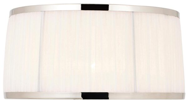 Suffolk White 13 Inch Table Lamp Shade With Polished Nickel Frame