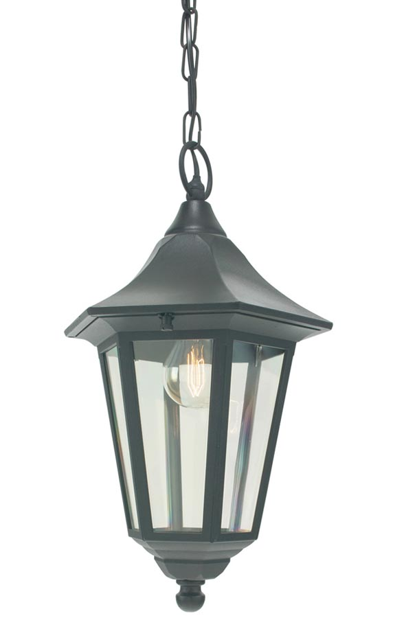 Norlys Valencia outdoor porch chain lantern black IP54