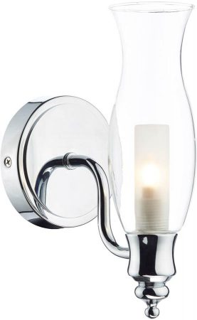 Dar Vestry Traditional Bathroom Wall Light Chrome